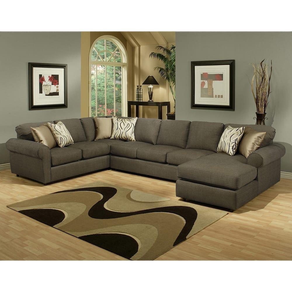 Furniture Of America Keaton Chenille Sectional Sofa (Grap.