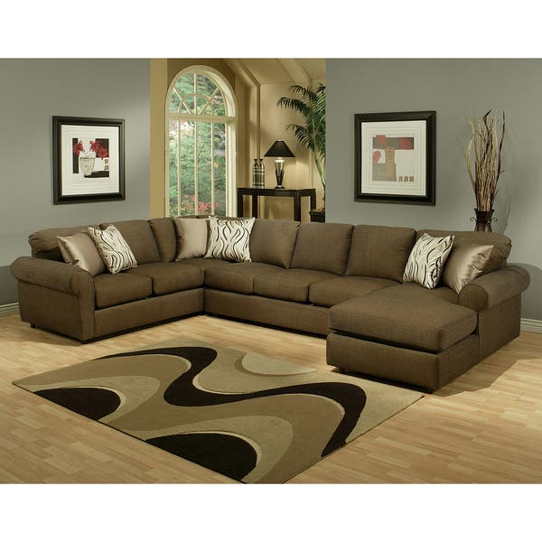 Amazing Shop Furniture Of America Keaton Chenille Sectional Sofa Pdpeps Interior Chair Design Pdpepsorg