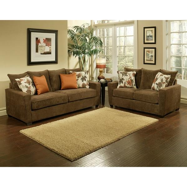 Superieur Furniture Of America Cedric 2 Piece Sofa And Loveseat Set