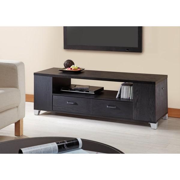Furniture of America Loyd Black Media Console/ Cabinet