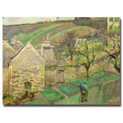 Camille Pissarro 'Hillside of Hermitage 1873' Canvas Wall Art
