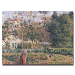 Camille Pissarro 'Vegetable Garden Pontoise 1879' Canvas Art