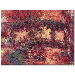 Claude Monet 'Japanese Bridge at Giverny 1923' Canvas Art