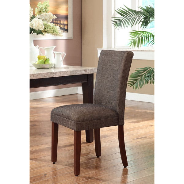 Shop HomePop Elegant Parson Dining Chair -Blue And Brown