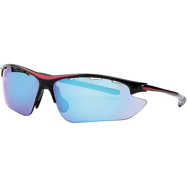 Rawlings Men's Black/Blue Nylon Sport Sunglasses