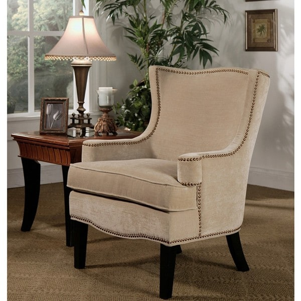 Abbyson Living Lorena Fabric Nailhead Trim Armchair