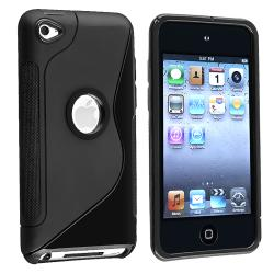 Thumbnail 1, INSTEN Black S Shape TPU Skin iPod Case Cover for Apple iPod Touch 4th Gen.