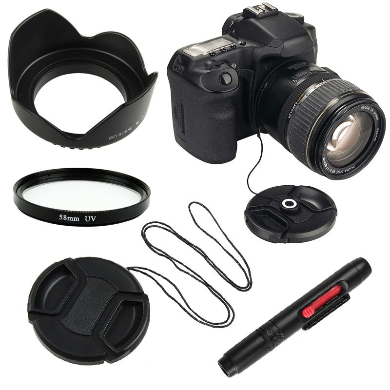 UV Filter/ Hood/ Cap/ Cap Keeper/ Cleaning Pen for Canon T1i/ T2i/ T3i