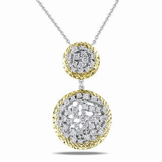 Miadora Signature Collection 18k Two-Tone Gold 2 7/8ct TDW Diamond Necklace (G-H, SI1-SI2)