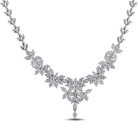 Miadora Signature Collection 18k White Gold 7 2/5ct TDW Vintage Diamond Necklace