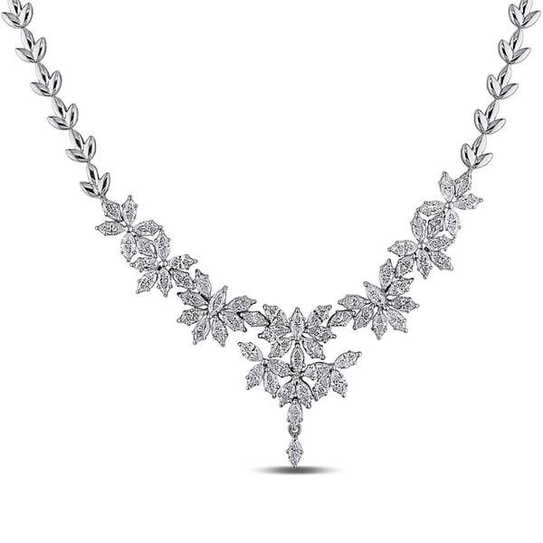 Miadora Signature Collection 18k White Gold 7 2/5ct TDW Vintage Diamond Necklace (G-H, SI1)