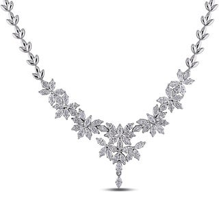 Miadora Signature Collection 18k White Gold 7 2/5ct TDW Vintage Diamond Necklace (G-H, SI1)