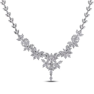 Miadora Signature Collection 18k White Gold 7 2/5ct TDW Vintage Diamond Necklace
