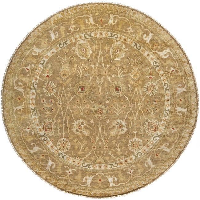 Hand-knotted Antolya Semi-worsted New Zealand Wool Rug (8' Round)