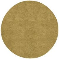 Hand-woven Casoria Colorful Plush New Zealand Felted Wool Shag Area Rug (8' Round) - 8' x 8'