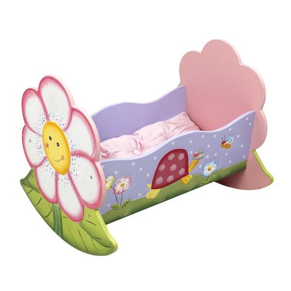 Teamson Kid's Magic Garden Doll Rocking Bed