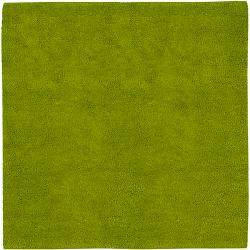 Hand-woven Pavia Colorful Plush Shag New Zealand Felted Wool Rug (8' Square)