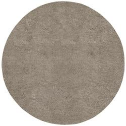 Hand-woven Trapani Colorful Plush Shag New Zealand Felted Wool Rug (8' Round)