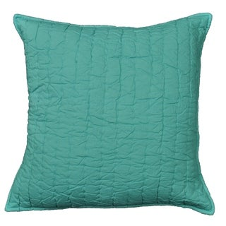 Cottage Home Brighton Teal Cotton 16 Inch Throw Pillow