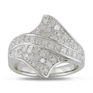 Miadora Sterling Silver 1ct TDW Diamond Ring