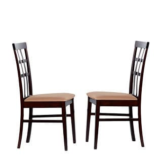 Warehouse of Tiffany Justin Light Capuccino Dining Chairs (Set of 4)