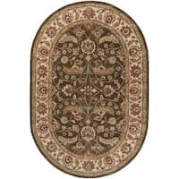 Hand-tufted Alps Wool Area Rug (6' x 9' Oval)