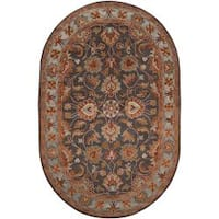 Hand-tufted Akaishi Wool Area Rug (6' x 9' Oval)