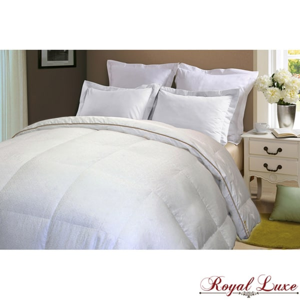 Royal Luxe 500 Thread Count Jacquard Down Alternative Comforter