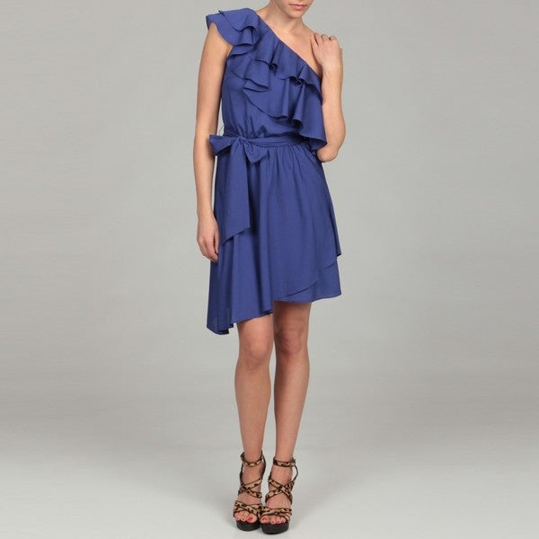 Miss Sixty Women's Royal Ruffle One-shoulder Dress