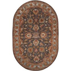 Hand-tufted Akaishi Wool Area Rug (8' x 10' Oval) - Thumbnail 0