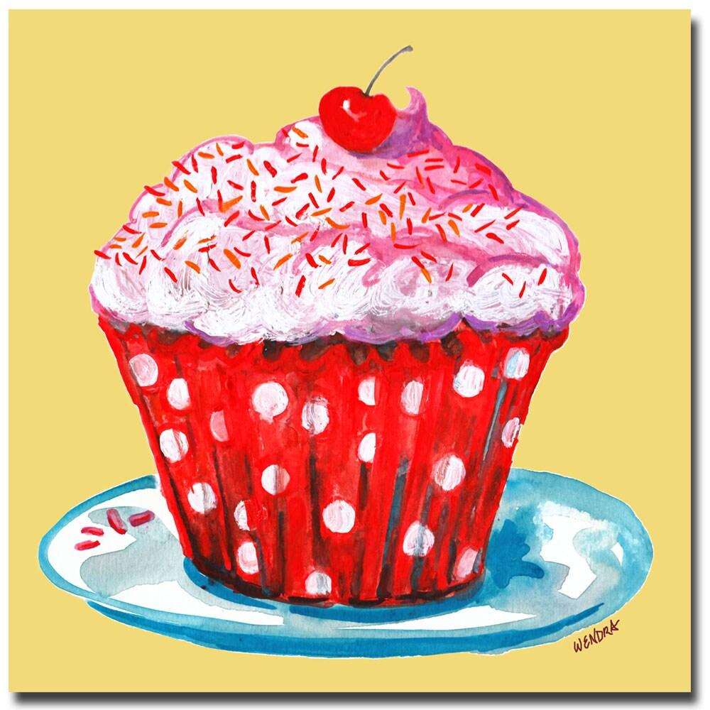 Shop Contemporary Wendra Cupcake Canvas Art Free