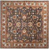 Hand-tufted Akaishi Wool Area Rug (6' Square)
