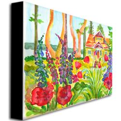 Wendra 'Cottage Garden' Gallery-Wrapped Canvas Art - Thumbnail 1
