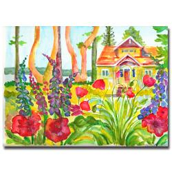 Wendra 'Cottage Garden' Gallery-Wrapped Canvas Art - Thumbnail 0