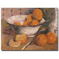 Paul Gauguin 'Still Life with Oranges 1881' Canvas Art - Multi