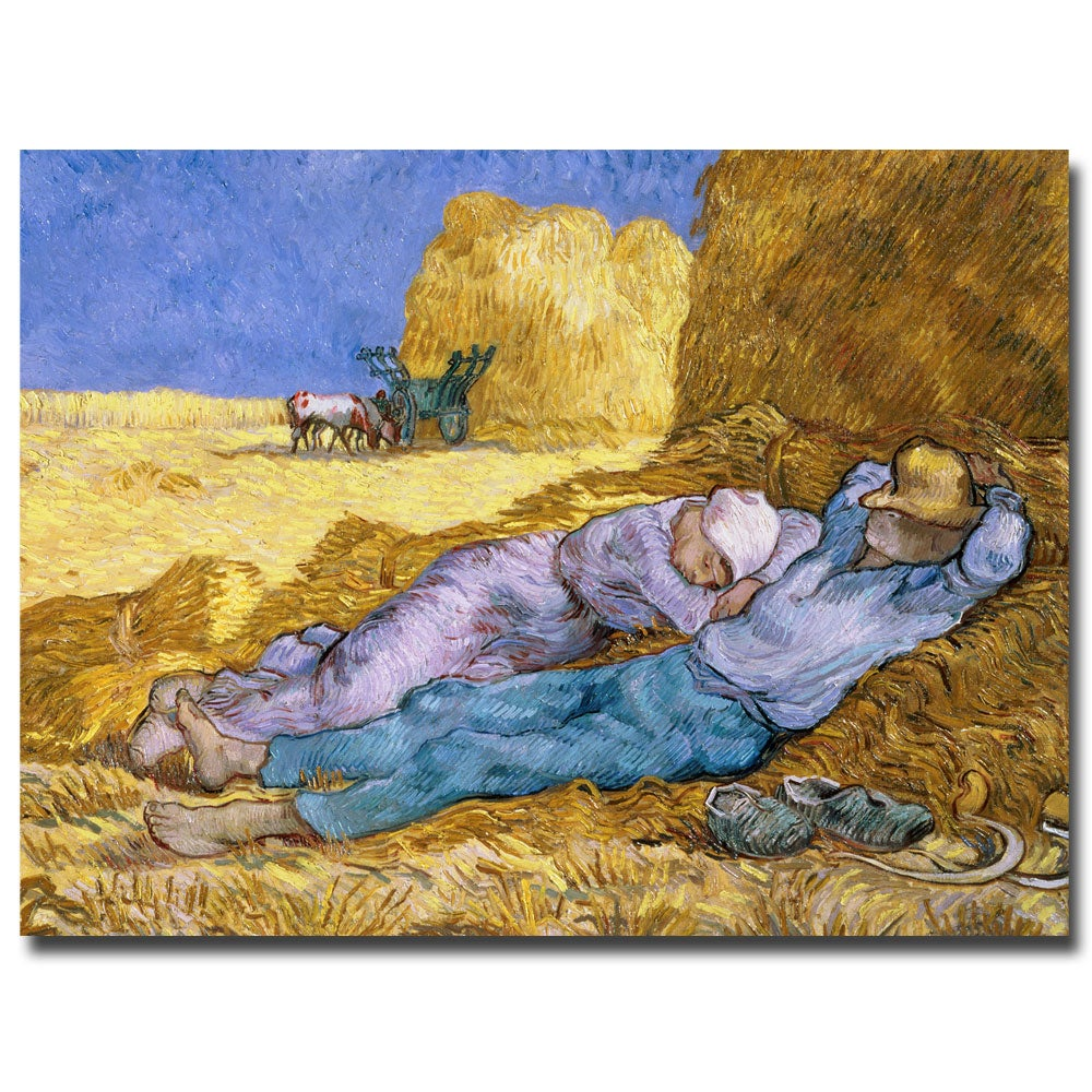 Vincent van Gogh \'Siesta After Millet 1890\' Gallery-Wrapped Canvas ...