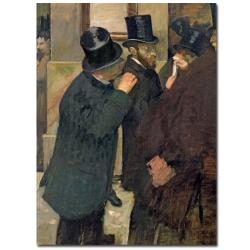 Edgar Degas 'At the Stock Exchange 1878' Canvas Art