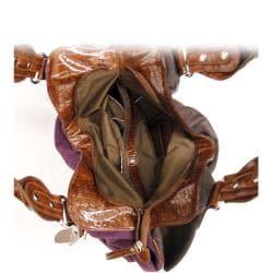 Faux Suede Stud Accent Shoulder Bag - Thumbnail 2