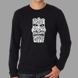 Los Angeles Pop Art Men's Tiki Big Kahuna Long Sleeves Shirt