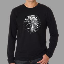 Los Angeles Pop Art Men's Native American Indian Long Sleeves Shirt