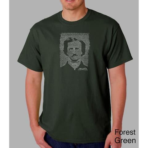 Los Angeles Pop Art Men's Edgar Allen Poe The Raven T-shirt