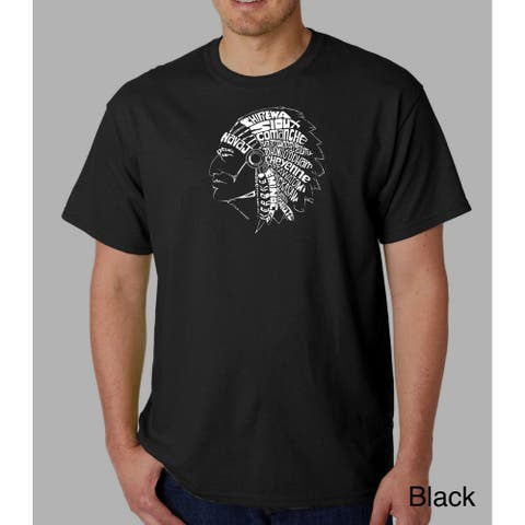 Los Angeles Pop Art Men's Native American Indian T-shirt