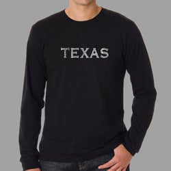 Los Angeles Pop Art Men's Texas Long Sleeves Shirt