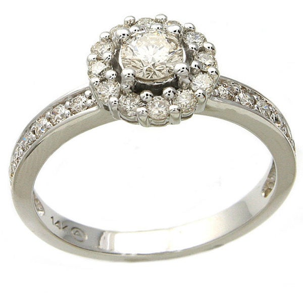 Beverly Hills Charm 14k White Gold 3/4ct TDW Diamond Engagement Ring (H-I, I1)