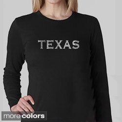 Los Angeles Pop Art Women's Texas Long Sleeves Shirt