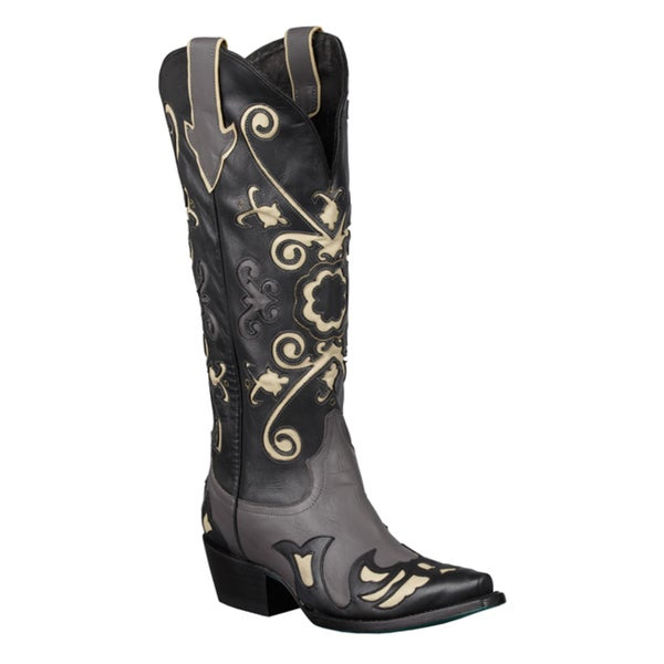 Wonderful WOMENS LADIES WESTERN COWBOY RUCHED KNEE HIGH LEATHER STYLE BOOTS SIZE