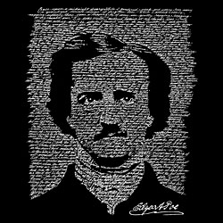 LA Pop Art Edgar Allen Poe Women's T-shirt created out of The Raven