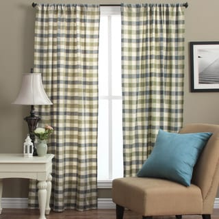 Plymouth 84-inch Plaid Woven Tailored Curtain Panels (Set of 2)