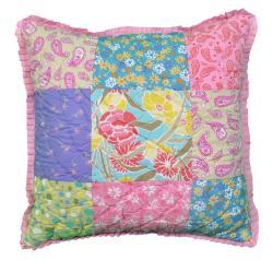 Cottage Home Sandy's Patchwork Reversible Decorative Pillow