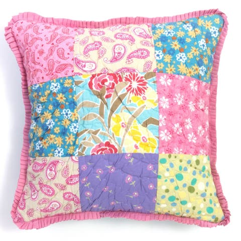 Cottage Home Sandy's Patchwork Reversible 20 Inch Throw Pillow